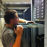 Pre-move preparations: Kim makes sure the server has enough memory.