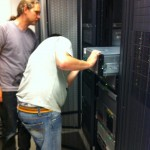 Installing in the new, shiny racks in the new Data Center.