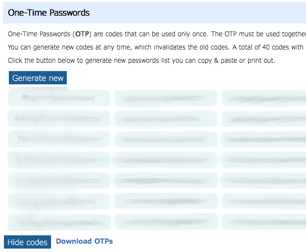 2FA One-Time Passwords